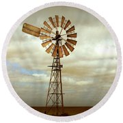 Catch The Wind Round Beach Towel by Holly Kempe