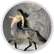 Centaur Round Beach Towel by Quim Abella