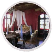 Round Beach Towel featuring the photograph Chateau De Cormatin by Travel Pics