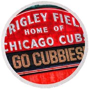 Chicago Cubs Wrigley Field Round Beach Towel by Christopher Arndt