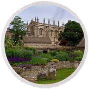 Christ Church In Spring Round Beach Towel by Rona Black