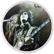 Eric Clapton - ' Clapton ' Round Beach Towel by Christian Chapman Art