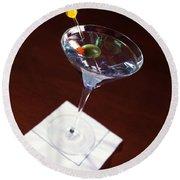 Classic Martini Round Beach Towel by Jon Neidert