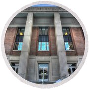 Coffman Memorial Union Round Beach Towel by Amanda Stadther