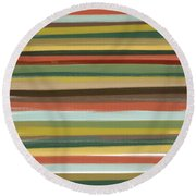 Color Of Life Round Beach Towel by Lourry Legarde