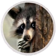 Conspicuous Bandit Round Beach Towel by Christina Rollo