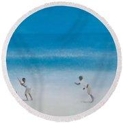Cricket On The Beach, 2012 Acrylic On Canvas Round Beach Towel by Lincoln Seligman