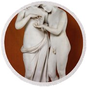 Cupid And Psyche Round Beach Towel by Antonio Canova