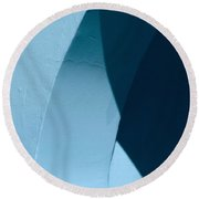 Curves And Light Round Beach Towel by Gary Slawsky