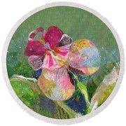Dancing Orchid IIi Round Beach Towel by Shadia Derbyshire