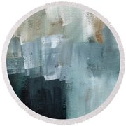 Days Like This - Abstract Painting Round Beach Towel by Linda Woods