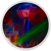 Def Leppard-adrenalize-gf12-fractal Round Beach Towel by Gary Gingrich Galleries