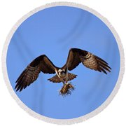 Delivery By Air Round Beach Towel by Mike  Dawson