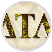 Delta Tau Lambda - Parchment Round Beach Towel by Stephen Younts