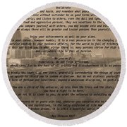 Desiderata Nashville Round Beach Towel by Dan Sproul