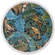 Design For Tapestry Round Beach Towel by William Morris