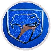 Dodge Viper Emblem -217c Round Beach Towel by Jill Reger