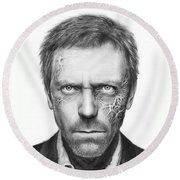 Dr. Gregory House - House Md Round Beach Towel by Olga Shvartsur