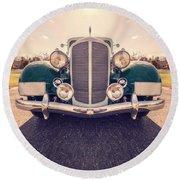 Dream Car Round Beach Towel by Edward Fielding