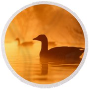 Early Morning Mood Round Beach Towel by Roeselien Raimond