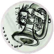 Eeeeeeek! Ink On Paper Round Beach Towel by Brenda Brin Booker