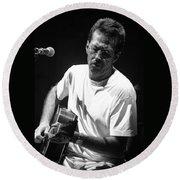 Eric Clapton 003 Round Beach Towel by Timothy Bischoff