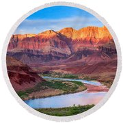 Evening At Cardenas Round Beach Towel by Inge Johnsson