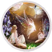 Fairy Ballet Round Beach Towel by Garry Walton
