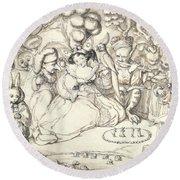 Fairy Concert, C.1830 Round Beach Towel by Charles Kirkpatrick Sharpe