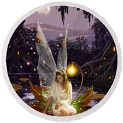 Fairy Princess Round Beach Towel by Garry Walton