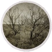 First Snow Round Beach Towel by Amy Weiss