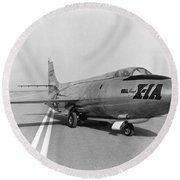 Round Beach Towel featuring the photograph First Supersonic Aircraft, Bell X-1 by Science Source