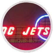 Fly Dc Jets Round Beach Towel by Heidi Smith