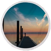 Round Beach Towel featuring the photograph Follow Me by Thierry Bouriat
