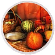 Food - Nature's Bounty Round Beach Towel by Mike Savad