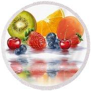 Fresh Fruits Round Beach Towel by Veronica Minozzi