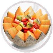 Fruit Salad Round Beach Towel by Johan Swanepoel