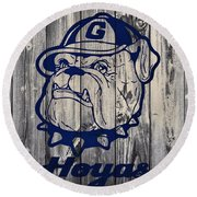 Georgetown Hoyas Barn Round Beach Towel by Dan Sproul