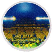 Glory At The Big House Round Beach Towel by John Farr