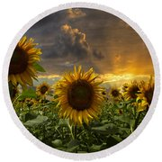 Glory Round Beach Towel by Debra and Dave Vanderlaan