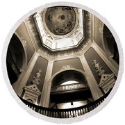 Golden Dome Ceiling Round Beach Towel by Dan Sproul