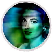 Grace Kelly Round Beach Towel by Marvin Blaine