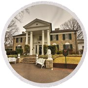 Graceland  Round Beach Towel by Rob Hawkins