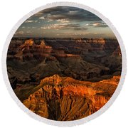 Grand Canyon Sunset Round Beach Towel by Cat Connor