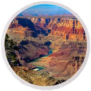 Grand Canyon Sunset Round Beach Towel by Robert Bales
