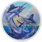 Grand Slam Off0016 Round Beach Towel by Carey Chen