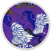 Hark The Herald Angels Sing Round Beach Towel by Kimberly McSparran