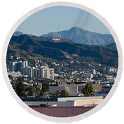 High Angle View Of A City, Beverly Round Beach Towel by Panoramic Images