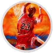 His Airness Round Beach Towel by Lourry Legarde