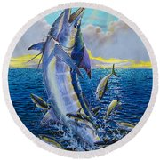 Hit And Miss Off0084 Round Beach Towel by Carey Chen